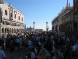 You can't get away from it - crowds will always form outside Venice's most popular sights. The Doge's Palace being the first on the list.