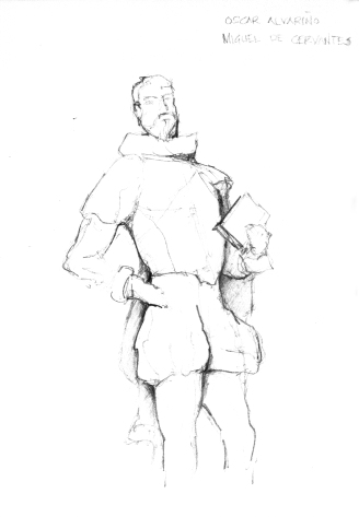 Statue of Miguel de Cervantes in Toledo